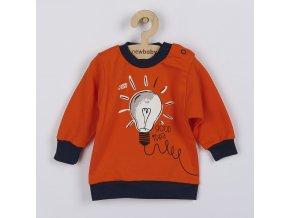 Kojenecké bavlněné tričko New Baby Happy Bulbs, vel. 50
