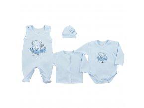 4-dílná kojenecká souprava Koala Sleeping Bear modrá, vel. 56 (0-3m)