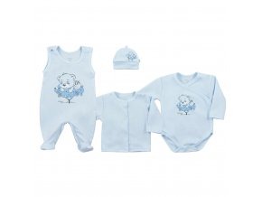 4-dílná kojenecká souprava Koala Sleeping Bear modrá, vel. 68 (4-6m)