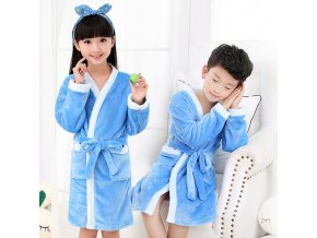 Children Bathrobes for Boys Velvet Sleepwear Baby Robes Pajamas for Girls Clothes Teens Striped Pijamas Kids 3