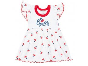Kojenecké bavlněné šatičky New Baby Cherry, vel. 62 (3-6m)