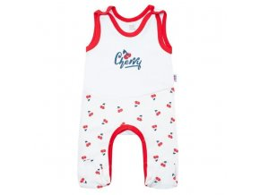 Kojenecké bavlněné dupačky New Baby Cherry, vel. 86 (12-18m)