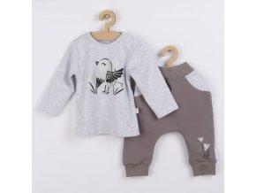 Kojenecké bavlněné tepláčky a tričko Koala Birdy šedé, vel. 68 (4-6m)