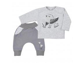 Kojenecké bavlněné tepláčky a tričko Koala Birdy šedé, vel. 86 (12-18m)