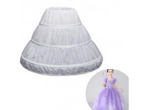 Spodnička (krinolína) dlouhá s obručí pro slavnostní dětské šaty