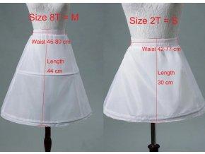 Spodnička (krinolína) jednoduchá s obručí pro dětské slavnostní šaty