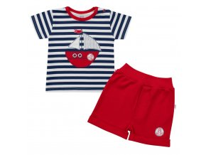 Kojenecká souprava tričko a kraťásky New Baby Marine, vel. 56 (0-3m)