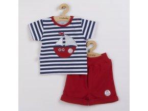 Kojenecká souprava tričko a kraťásky New Baby Marine, vel. 62 (3-6m)
