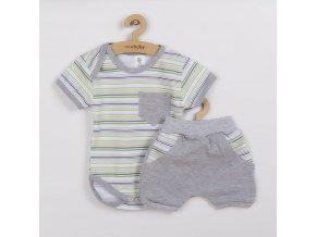 2-dílná letní bavlněná souprava New Baby Perfect Summer stripes, vel. 56 (0-3m)