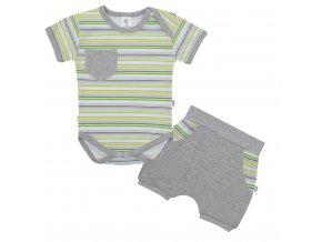 2-dílná letní bavlněná souprava New Baby Perfect Summer stripes, vel. 62 (3-6m)
