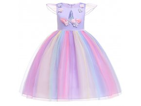 2018 New style 2 10 year summer dress Unicorn children princess dress Children s clothing girls as picture (18)