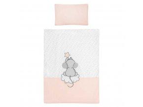3-dílné ložní povlečení Belisima Cute Mouse 100/135 růžové