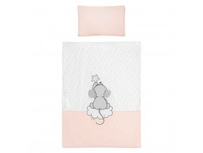 5-dílné ložní povlečení Belisima Cute Mouse 90/120 růžové