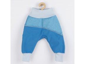 Softshellové kojenecké kalhoty New Baby modré, vel. 74 (6-9m)