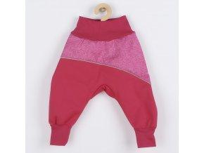 Softshellové kojenecké kalhoty New Baby růžové, vel. 80 (9-12m)