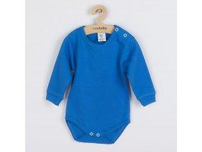 Kojenecké body s dlouhým rukávem New Baby modré, vel. 74 (6-9m)