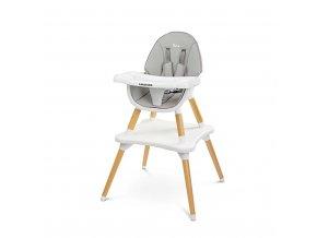 Jídelní židlička CARETERO TUVA grey