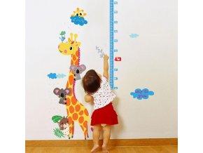 Samolepka Zvířecí metr s žirafou