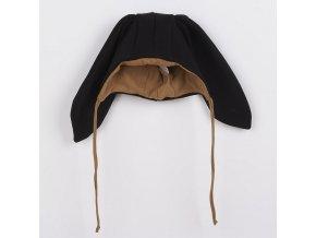 Kojenecká bavlněná čepička s oušky New Baby Favorite černá, vel. 74 (6-9m)
