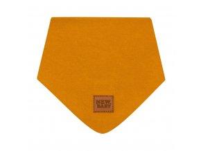 Kojenecký bavlněný šátek na krk New Baby Favorite hnědý S