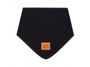 Kojenecký bavlněný šátek na krk New Baby Favorite černý M