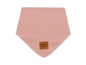 Kojenecký bavlněný šátek na krk New Baby Favorite růžový S