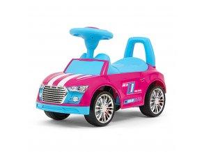 Dětské odrážedlo Milly Mally Racer pink-blue POŠKOZENÝ OBAL