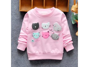2019 New Arrival Baby Girls Sweatshirts Winter Spring Autumn Children Hoodies 6 Cats Long Sleeves Sweater 1