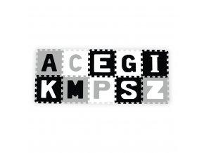 Pěnové puzzle 30x30 cm 10 ks Baby Ono písmenka šedé
