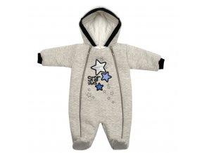 Zimní kojenecká kombinéza s kapucí Koala Star Vibes modrá, vel. 56 (0-3m)