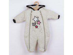 Zimní kojenecká kombinéza s kapucí Koala Star Vibes růžová, vel. 68 (4-6m)