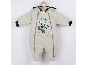 Zimní kojenecká kombinéza s kapucí Koala Star Vibes modrá, vel. 68 (4-6m)