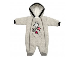 Zimní kojenecká kombinéza s kapucí Koala Star Vibes růžová, vel. 74 (6-9m)