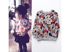 Jargazol Girls Shirt Cartoon Minnie Printed Fashion Kids Sweater 2018 Autumn Vetement Enfant Fille Children Tops 1