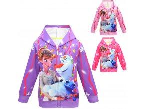 1 Snow Queen 2 Autumn Girls Anna elsa Princess Coat Kids Hooded Outerwear Winter Baby Girl Cartoon (1)
