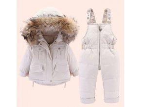 DEAR RABBIT dětská zimní bunda a oteplovací kalhoty