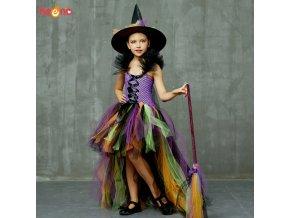 Girls Halloween Witch Tutu Dress Rainbow Trailing Tulle Kids Carnival Cosplay Party Dress Children Fancy Ball.jpg Q90.jpg