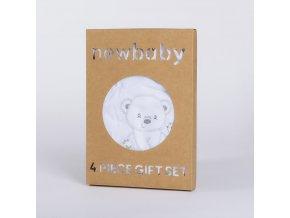 Kojenecká soupravička do porodnice New Baby Sweet Bear bílá, vel. 50