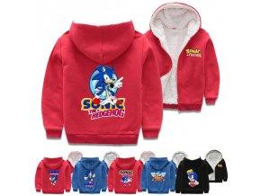 """Zateplená zimní mikina """"Sonic the Hedgehog"""""""