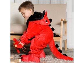 Children s pajamas cartoon new jumpsuit flannel dinosaur animal play suit long sleeved hoodie warm cute.jpg Q90.jpg