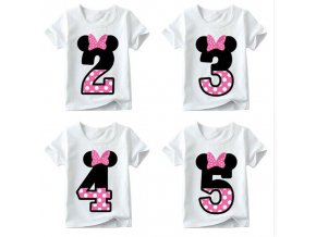 Baby boy girl happy birthday letter bow cute print clothes children funny T shirt round neck 1