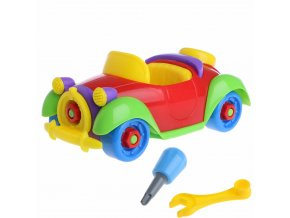 Baby Kid Colorful Car Puzzle Assembly Early Educational Toy DIY Creative Bricks 1