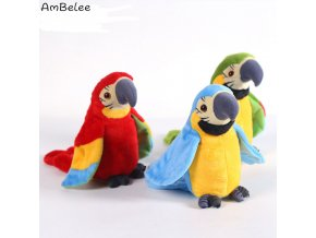Ambelee Kawaii Speak Parrot Plush Toys Dancing Electric Stuffed Animal Toys For Children Parrot Educational Toy 1