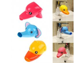 1 pcs Happy Fun Animals Faucet Extender Baby Tubs Kids Hand Washing Bathroom Sink Gift Fashion 1