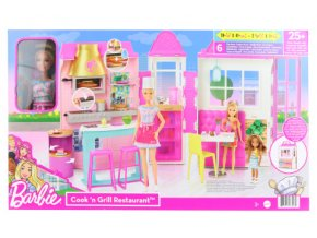 Barbie Restaurace s panenkou herní set HBB91 TV