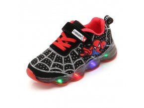 Cartoon Fashion Spider man Kids Shoes with Light Air Mesh Children Luminous Sneakers Boy Girl Led 1
