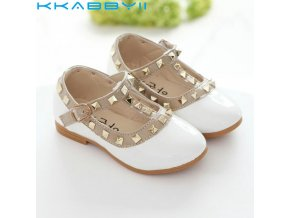 New Girls Sandals Kids Leather Shoes Children Rivets Leisure Sneakers Hot Girls Princess Dance Shoes 1