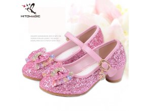 HITOMAGIC High Heel Shoes For Dance Children s Shoes For Girls Princess Shoe Girl Children Footwear 1