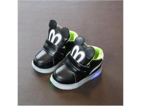 Cute Lovely Princess Boys Girls Boots Cartoon Children Shoes Casual Fashion LED Light Baby Kids Shoes 1