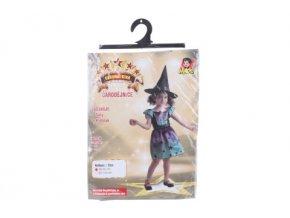 Šaty na karneval - duhová čarodějnice 80 - 92 cm